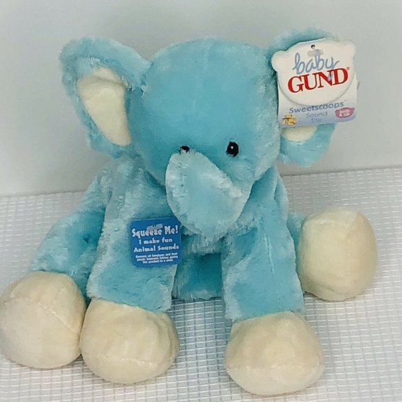 Baby Gund Sweetscoops Stompz Elephant Plush Sound